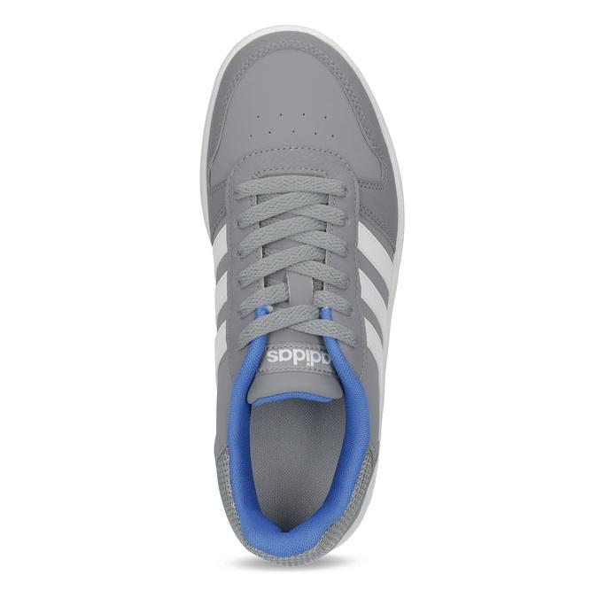 Šedé dětské ležérní tenisky adidas, šedá, 401-2337 - 17
