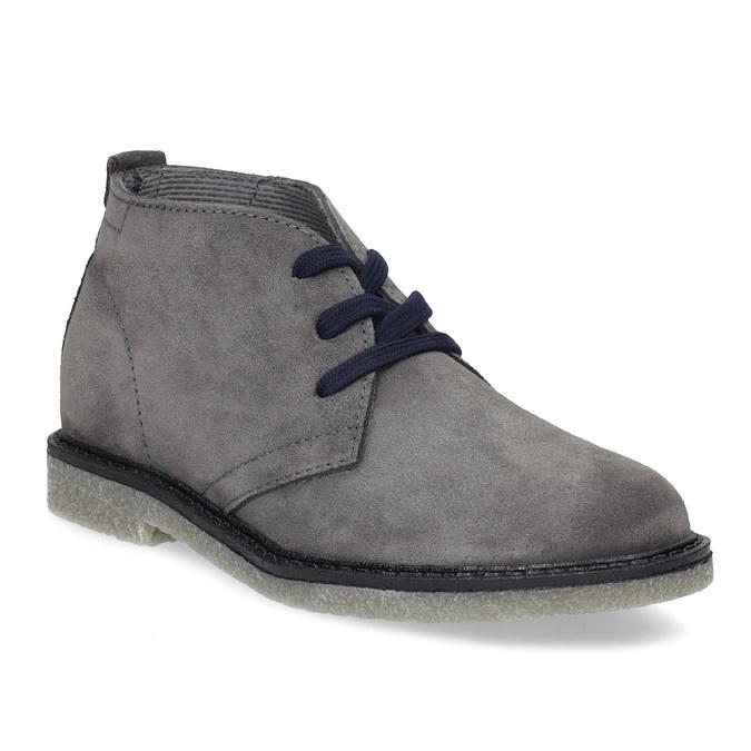 Kožená dětská kotníčková obuv mini-b, šedá, 313-2278 - 13