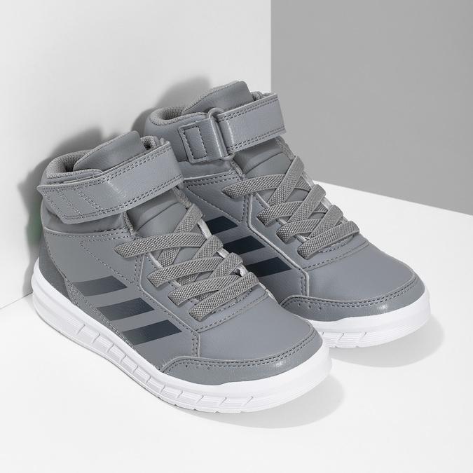 Dětské šedé kotníčkové tenisky adidas, šedá, 301-2220 - 26