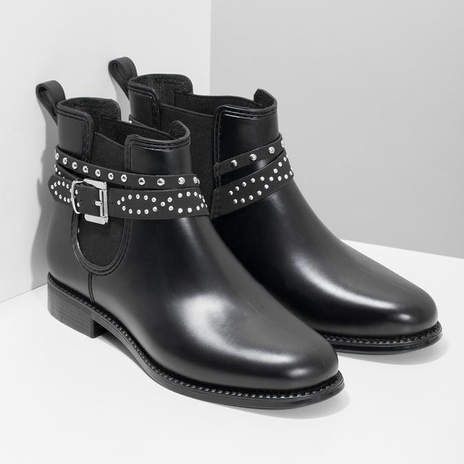 Kotníčkové dámské holínky s přezkou bata, černá, 592-6601 - 26