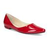 Červené kožené dámské baleríny s lakováním hogl, červená, 528-5066 - 13