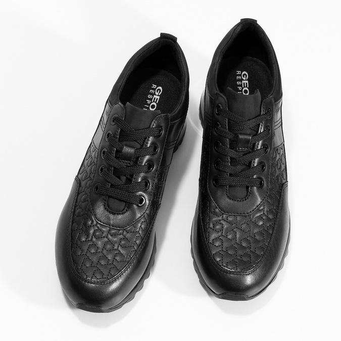 Ležérní dámské tenisky s výraznou podešví geox, černá, 621-6084 - 16