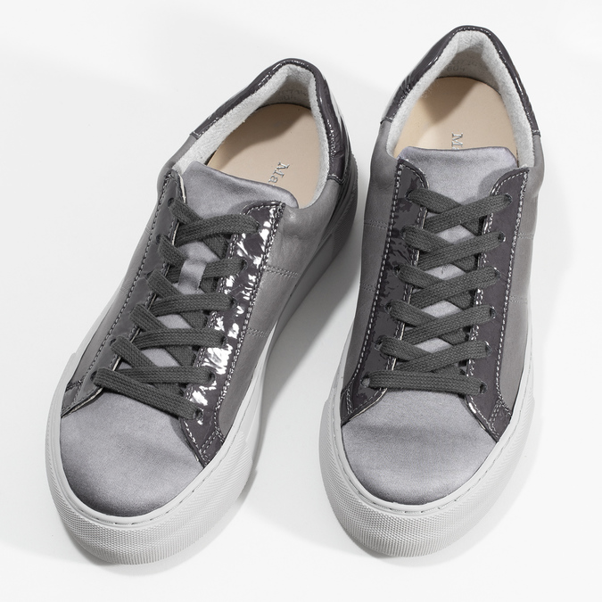 Šedé kožené ležérní dámské tenisky marc-o-polo, šedá, 626-2019 - 16