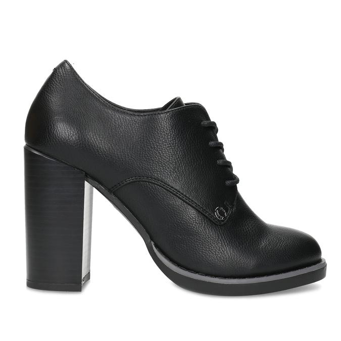 Kotníčková dámská obuv se šněrováním insolia, černá, 711-6600 - 19