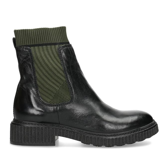 Ponožkové kožené kozačky v Chelsea stylu bata, černá, 596-6721 - 19