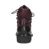 Vínová kožená kotníčková obuv se šněrováním bata, červená, 596-5719 - 15