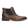Pánská kožená obuv ve stylu Chelsea bata, hnědá, 826-3865 - 19