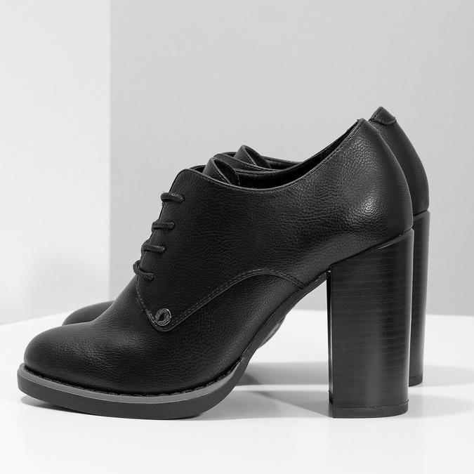 Kotníčková dámská obuv se šněrováním insolia, černá, 711-6600 - 16