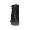 Dětská kožená kotníčková obuv se vzorem mini-b, černá, 426-2560 - 15