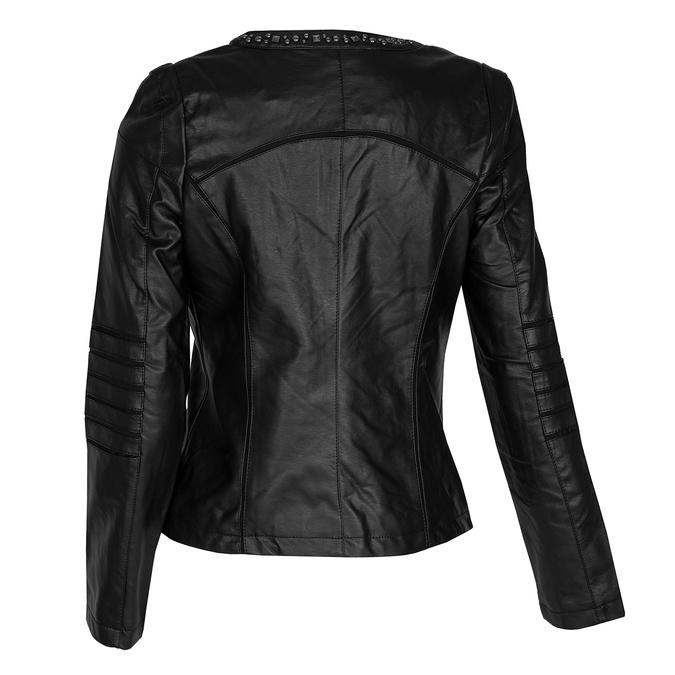 Černá dámská bunda s prošíváním bata, černá, 971-6227 - 26