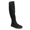 Dámské černé kozačky s výrazným zipem bata, černá, 691-6636 - 13