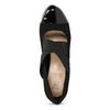 Černé lodičky s lakovanou špicí insolia, černá, 729-6625 - 17