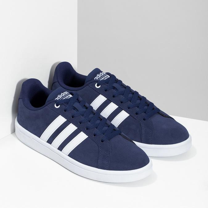 Pánské tenisky z broušené kůže modré adidas, modrá, 803-9120 - 26