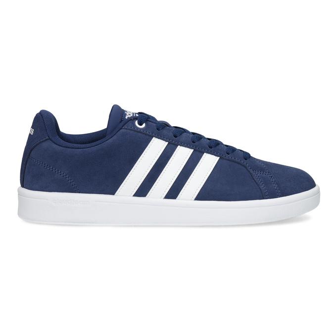 Pánské tenisky z broušené kůže modré adidas, modrá, 803-9120 - 19