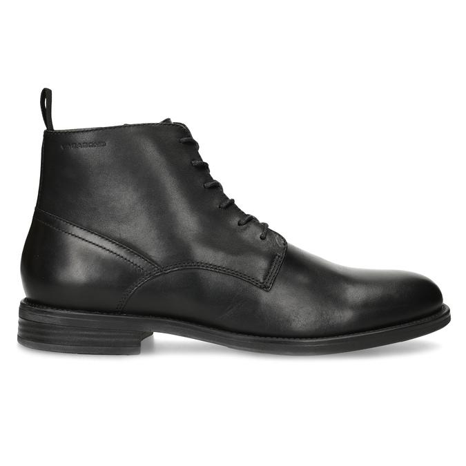 Pánská kožená kotníčková obuv černá vagabond, černá, 824-6238 - 19