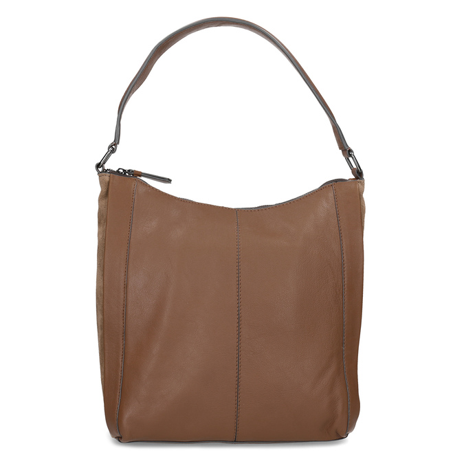 Hnědá kožená kabelka bata, hnědá, 964-3254 - 26
