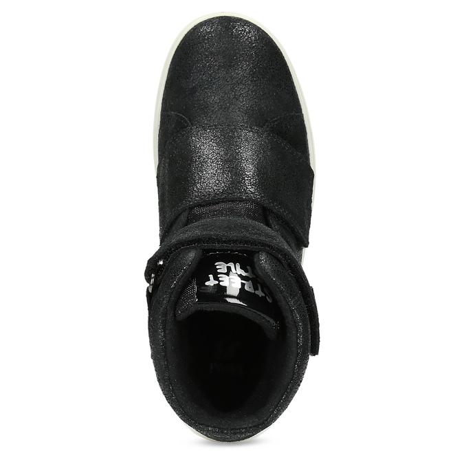 Kožené černé dětské kotníčkové tenisky mini-b, černá, 323-6603 - 17