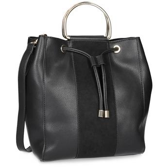 Černá dámská Bucket kabelka bata, černá, 961-6890 - 13