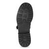 Dámské zimní polokozačky s přezkami bata, černá, 596-4705 - 18