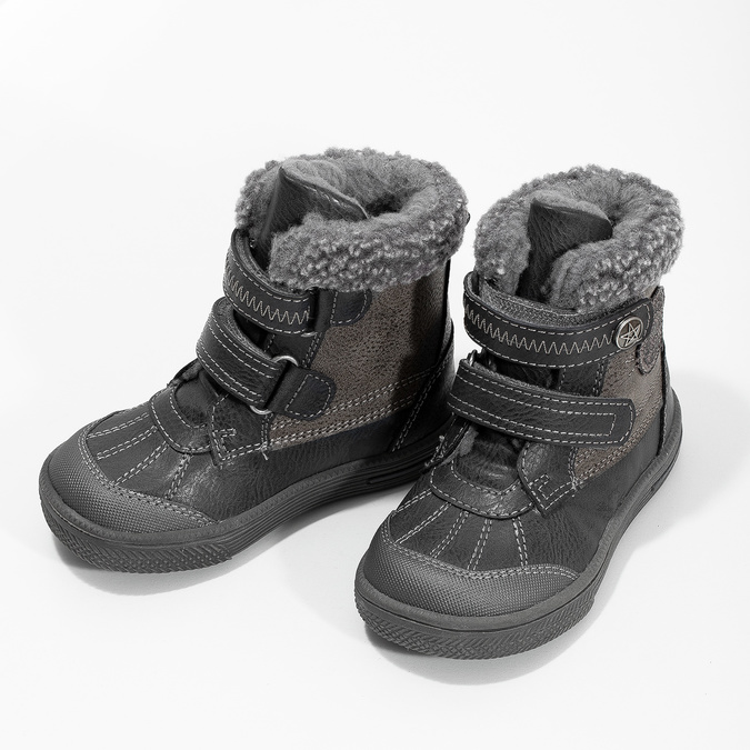 Dětská zimní obuv se zateplením bubblegummers, šedá, 191-4619 - 16