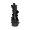Černá kožená kotníčková obuv s kovovými cvoky bata, černá, 594-6671 - 15