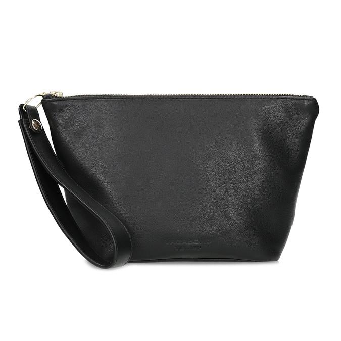 Černá kožená kabelka s páskem na zápěstí vagabond, černá, 964-6012 - 26