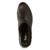 Hnědá kožená obuv s prošitím gabor, hnědá, 616-4123 - 17
