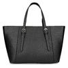 Černá dámská kabelka se stříbrnými zipy bata, černá, 961-6920 - 16