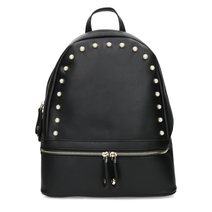 Městský batůžek s perličkami bata, černá, 961-6906 - 26