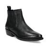 Dámská kožená kotníčková obuv s pružením bata, černá, 596-6969 - 13