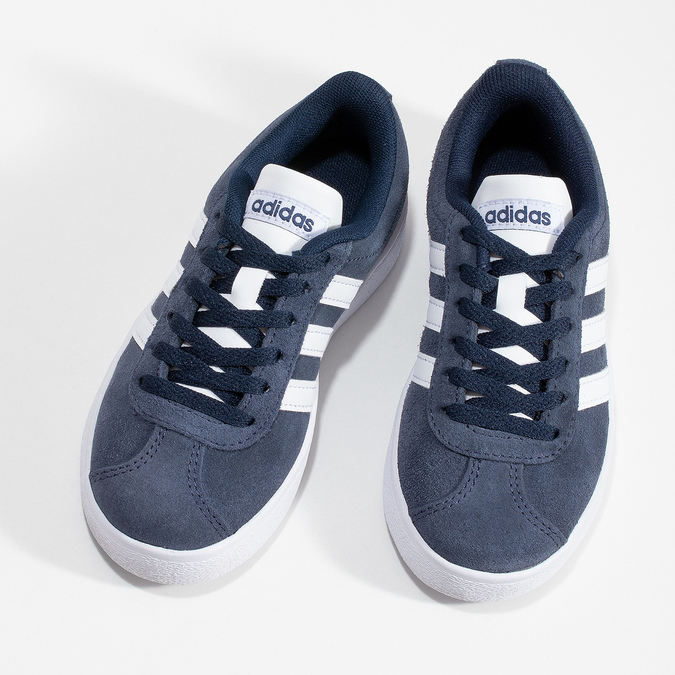 Dětské tenisky z broušené kůže šedé adidas, modrá, 303-9212 - 16