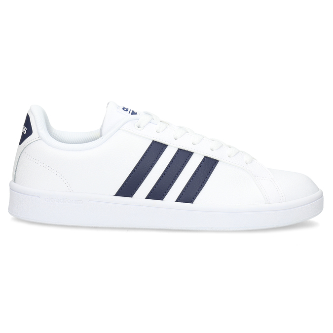 Pánské bílé ležérní tenisky adidas, bílá, modrá, 801-9378 - 19