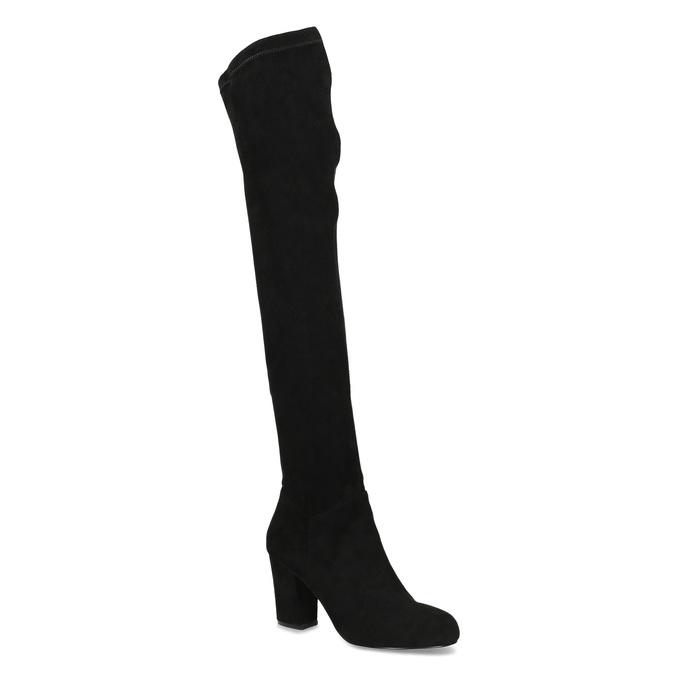 Černé dámské kozačky nad kolena bata, černá, 799-6638 - 13