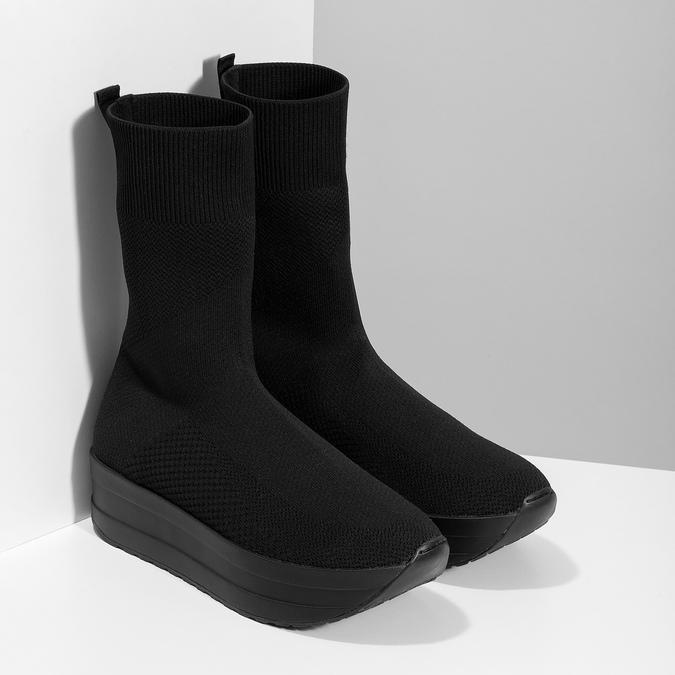 Dámská černá kotníčková obuv vagabond, černá, 719-6050 - 26