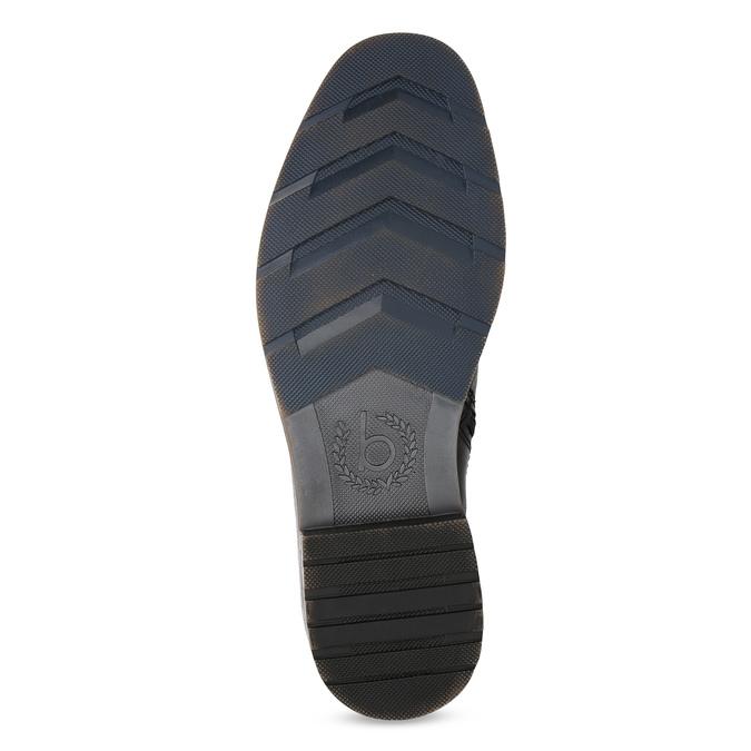 Pánská kotníčková obuv se zipem černá bugatti, černá, 816-6026 - 18