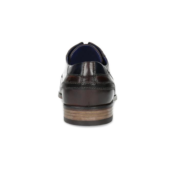 Tmavě hnědé derby polobotky bugatti, hnědá, 826-4058 - 15