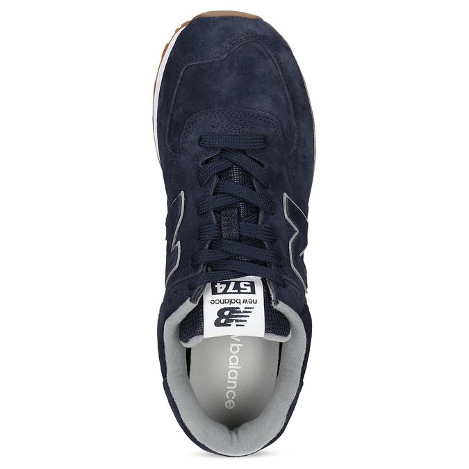 Modré pánské tenisky s šedými detaily new-balance, modrá, 803-9175 - 17