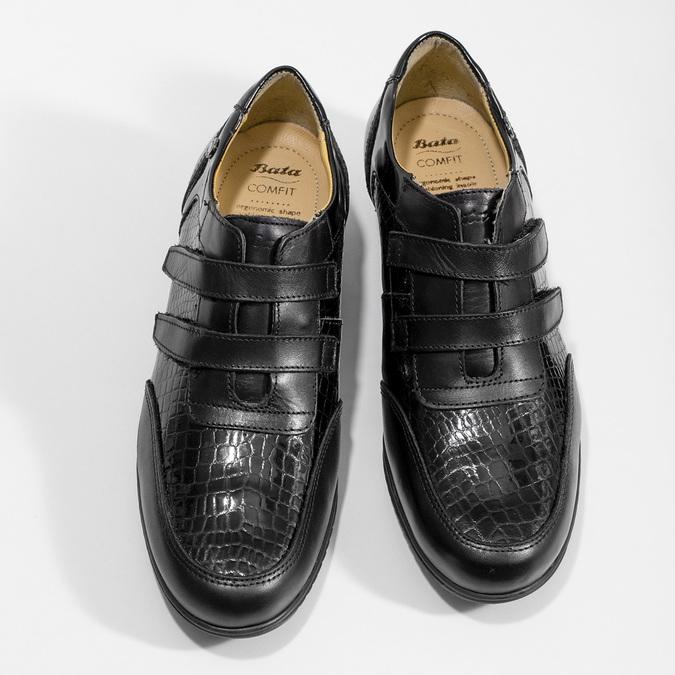 Kožené ležérní tenisky na suché zipy comfit, černá, 624-6160 - 16