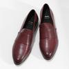 Dámské vínové kožené mokasíny bata, červená, 514-5601 - 16