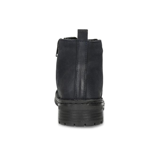 Kožená dámská kotníčková obuv bata, modrá, 596-9709 - 15
