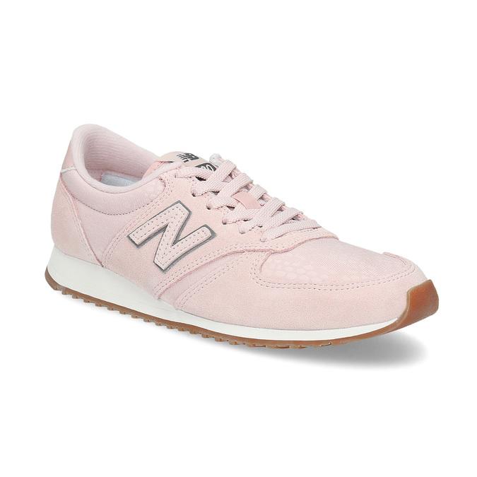 Růžové dámské tenisky z broušené kůže new-balance, růžová, 503-5172 - 13