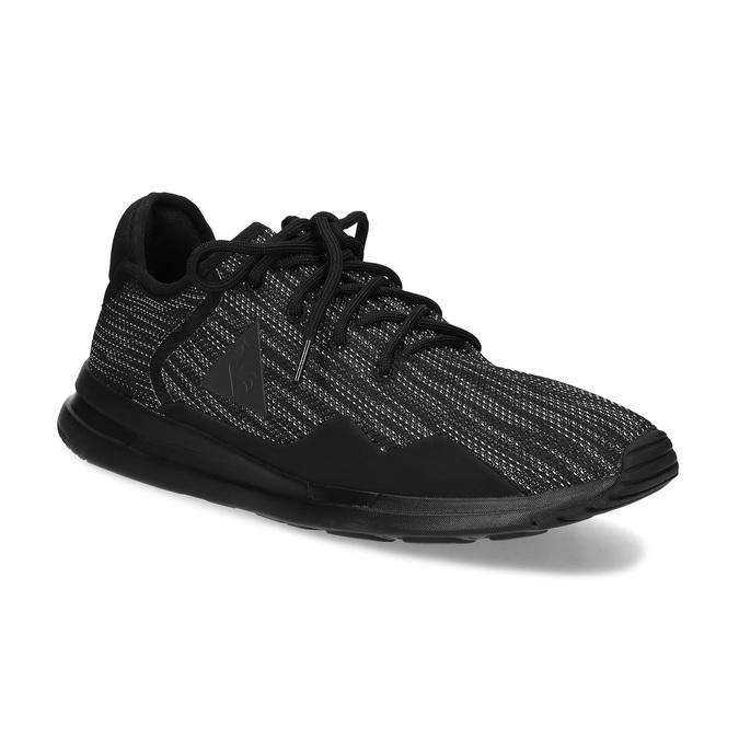Černé pánské tenisky se žíhaným vzorem le-coq-sportif, černá, 809-6152 - 13