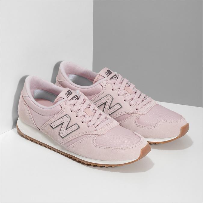 Růžové dámské tenisky z broušené kůže new-balance, růžová, 503-5172 - 26