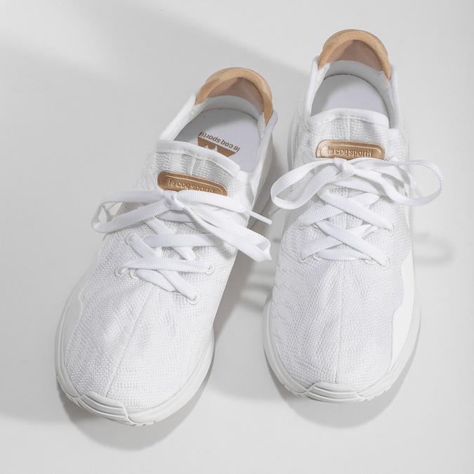 Bílé dámské tenisky se zlatými detaily le-coq-sportif, bílá, 509-1156 - 16