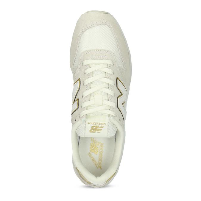Krémové dámské tenisky z broušené kůže new-balance, béžová, 503-8173 - 17