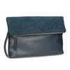 Tmavě modré psaníčko s klopnou a kamínky bata, modrá, 961-9910 - 13