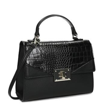 Černá kabelka s imitací hadí kůže bata-red-label, černá, 961-6892 - 13