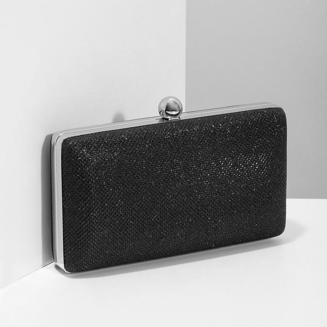 Černé třpytivé psaníčko bata, černá, 969-6702 - 17