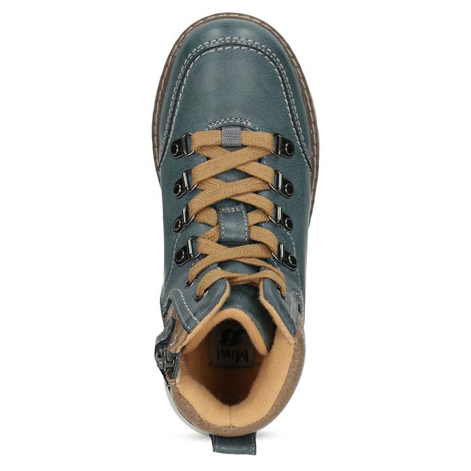 Modrá dětská kotníčková obuv mini-b, modrá, 311-9614 - 17