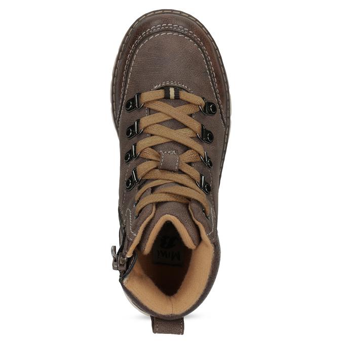 Hnědá dětská kotníčková obuv na zip mini-b, hnědá, 311-4614 - 17
